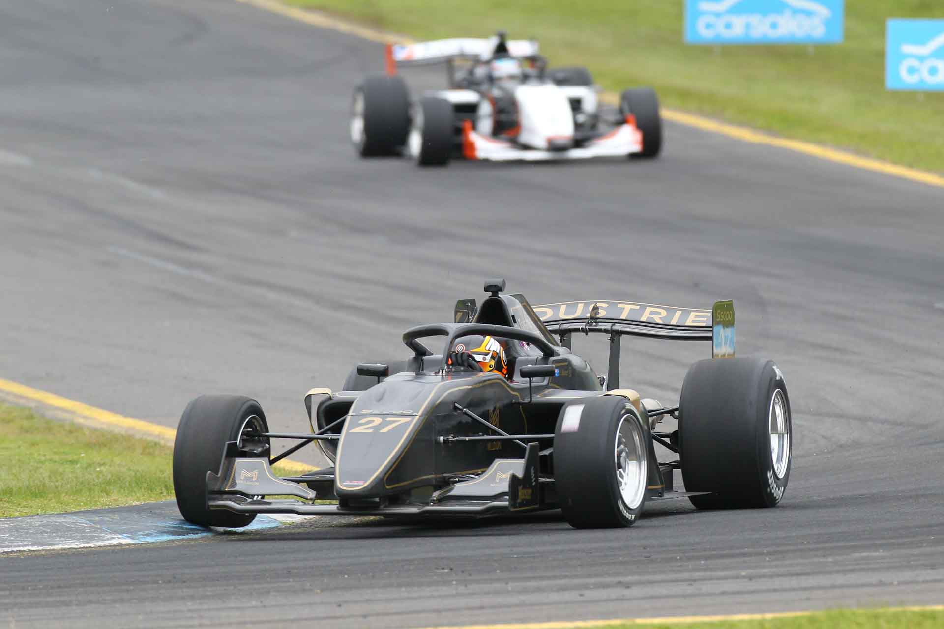 Barton Mawer Motorsport competing in the 2020 S5000 Series in Australia on the racetrack