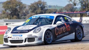barton mawer racing driver & ben lindsay porsche cure friedreich ataxia at Phillip Island Racetrack