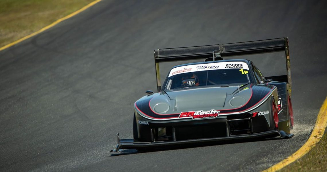 Barton Mawer driving the PR Technology Porsche for World Time Attack at Sydney Motorsport Park record lap time in 2019